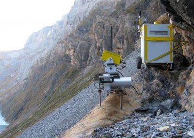 Das Georadar ist mobil und kann schnell installiert werden. Auch in abgelegenen Standorten...