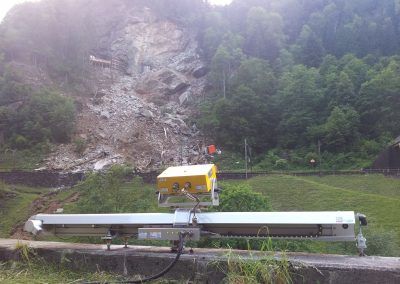The georadar monitors the scar after the rockfall onto the Gotthard Railway Line, Gurtnellen, Switzerland.
