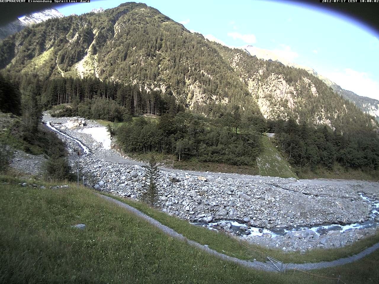 Webcam: Bilder von der Einmündung des Spreitgrabens in die Aare.
