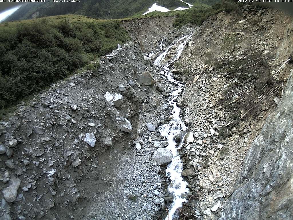 Webcam: Bilder von der Kamera direkt über dem Graben.