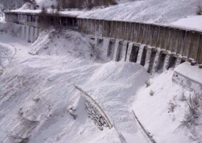 The road buried by an artificially released avalanche. Image © Municipality of Zermatt.