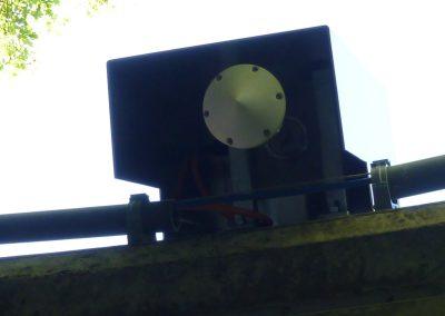 Ansicht des Pegelradars von unten.