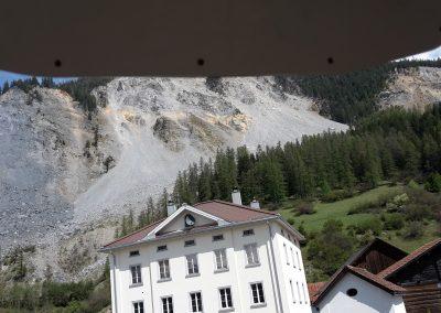 Sicht vom Steinschlag-Radar auf den Bergsturz.