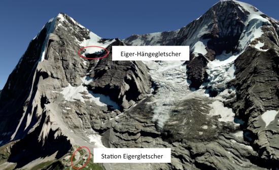 Gletscherabbruch Eiger