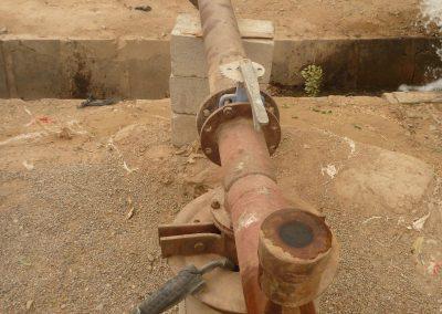 Das Grundwasser wird über Kanäle verteilt.