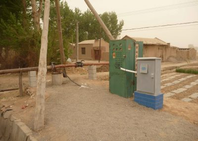 Bestehendes Pumpsystem, welches Grundwasser bezieht. Der Bezug von Wasser erfolgt mit einer Chipkarte.