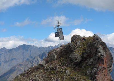 Die Webcams an der Station B überwachen den oberen Teil des Mt. Kazbek.