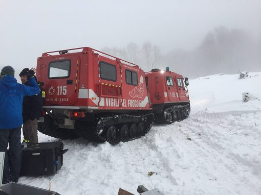Avalanche alarm system Rigopiano