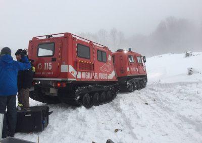 Für den Transport wurden Snowcats eingesetzt.