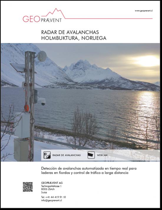 Radar de avalancha Holmbuktura