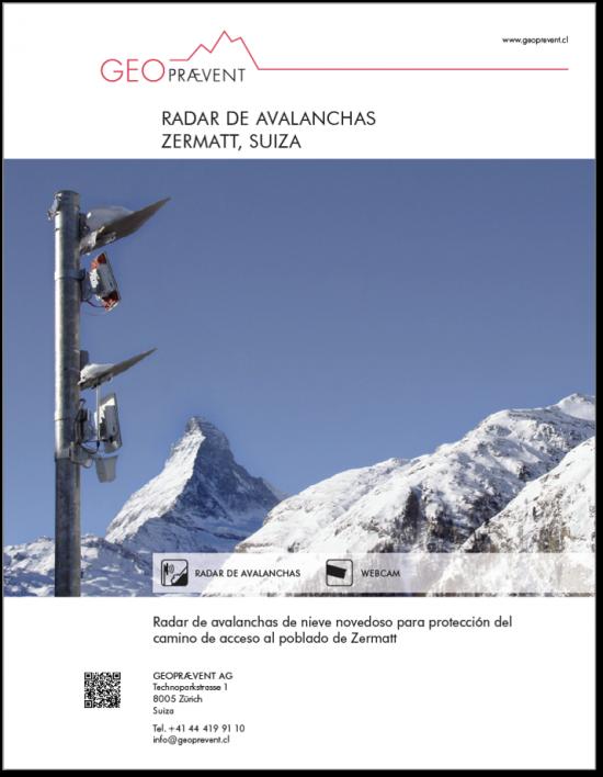 Radar de avalanchas Zermatt