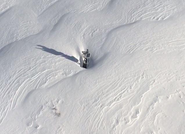 Stromversorgung bei eisigen Temperaturen und meterweise Schnee
