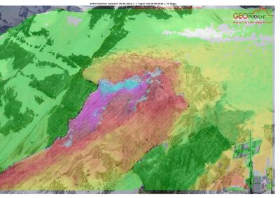 28 June 2018: Upper deformation analysis from the escarpment.