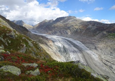 Aletschgletscher: der grösste und längste Gletscher der Alpen zieht sich rasant zurück.
