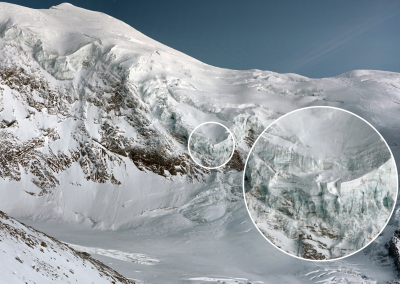 High-resolution image of the Weissmies glacier with zoom option.