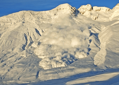 The avalanche radar reliably detects avalanches in any weather and at any time of day.