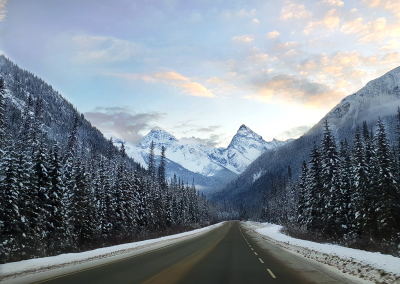 In Glacier National Park, the Trans-Canada Highway runs through one of the snowiest places on Earth.