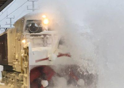 Die Schneefräse musste beispielsweise am 13. Januar 2019 frühmorgens eingesetzt werden.