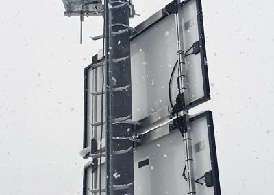 Das Lawinenradar detektiert Lawinen in allen Sichtverhältnissen zuverlässig: Tag/Nacht, bei Nebel, Schnee oder Regen