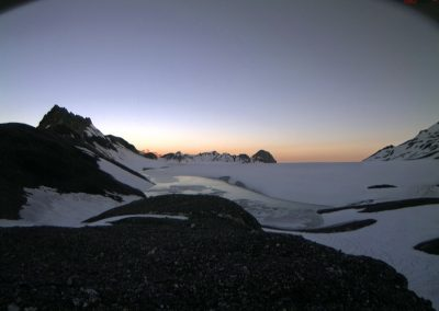 Evening atmosphere in July on the Plaine Morte Glacier.