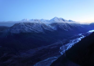 Bear Pass is a 62 km long avalanche-prone section of the Provincial Highway that connects Stewart and its port with the domestic service centres.