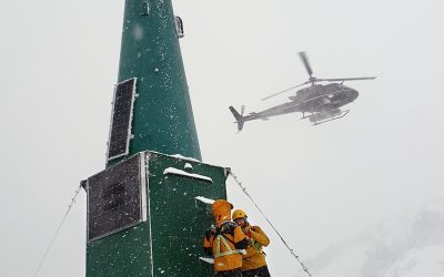Avalanche radar system installed at Bear Pass, Canada