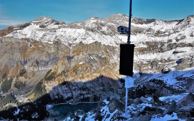 Kandersteg: Geoprevent monitors Spitze Stei with radar and deformation camera