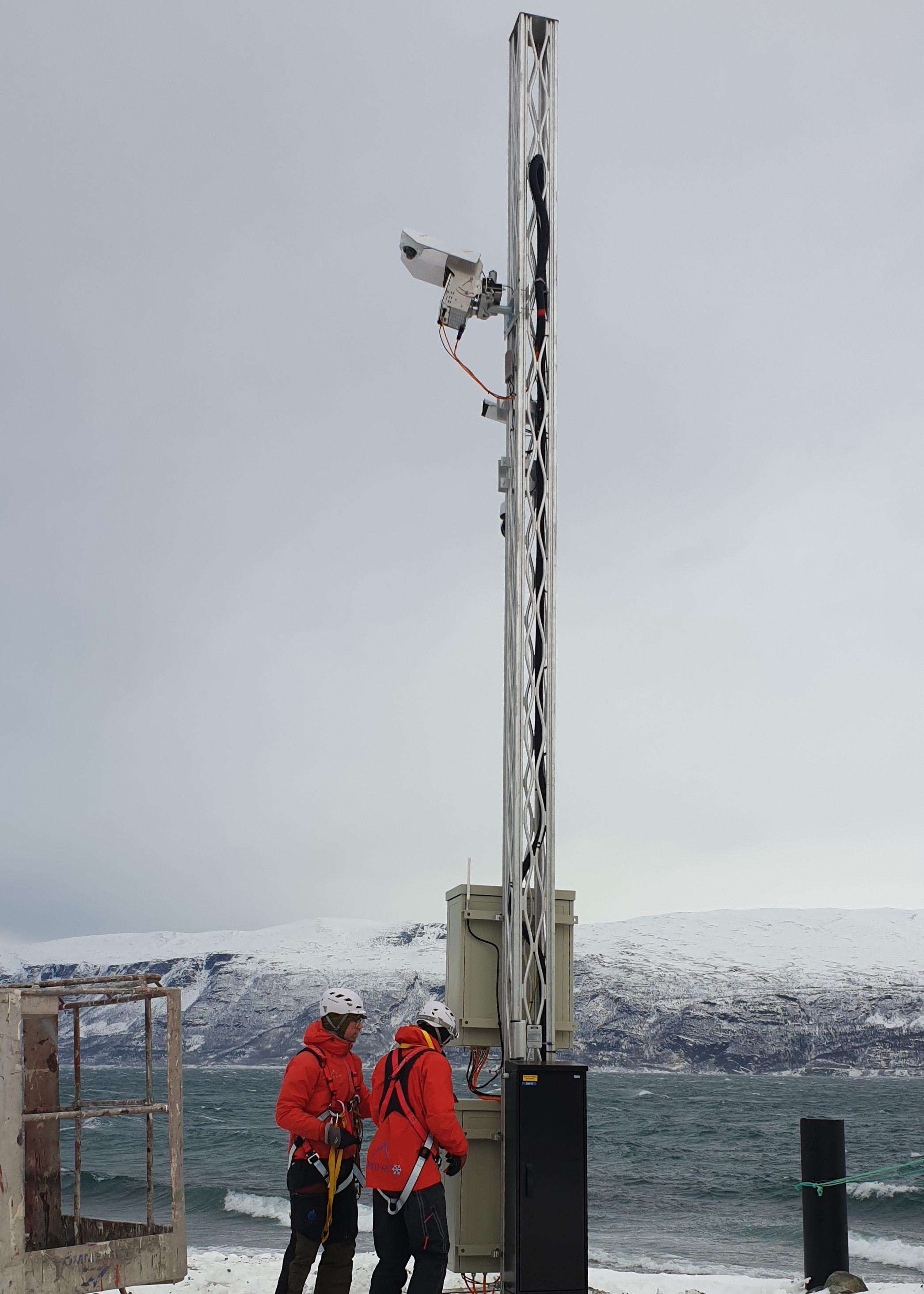 AVYX_Pollfjellet_Installation_Mast