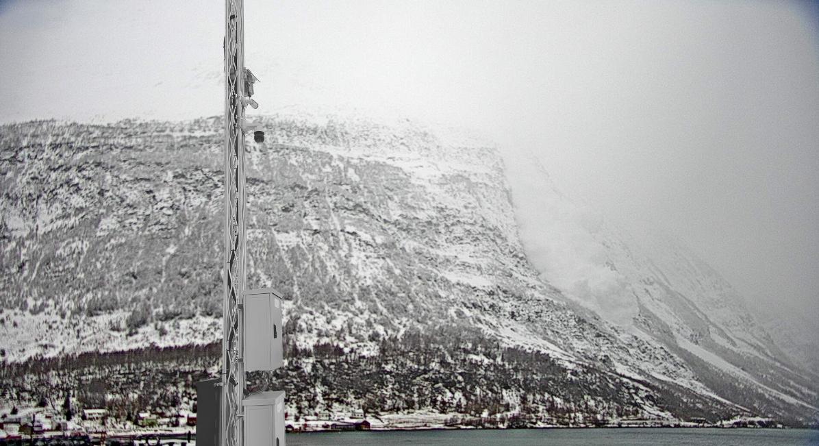 Pollfjellet_Radarsystem_Lawinendetektion